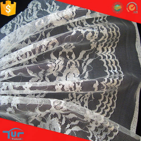 guangzhou polyester 2016 new flower girl's knitted polyester raschel lace fabrics