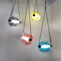 Modern colorful LED glass ball pendant in design replica lighting