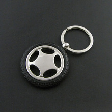 Metal Car Wheel Tyre Tire Pendant Key Chain Keychain Keyring for men gifts