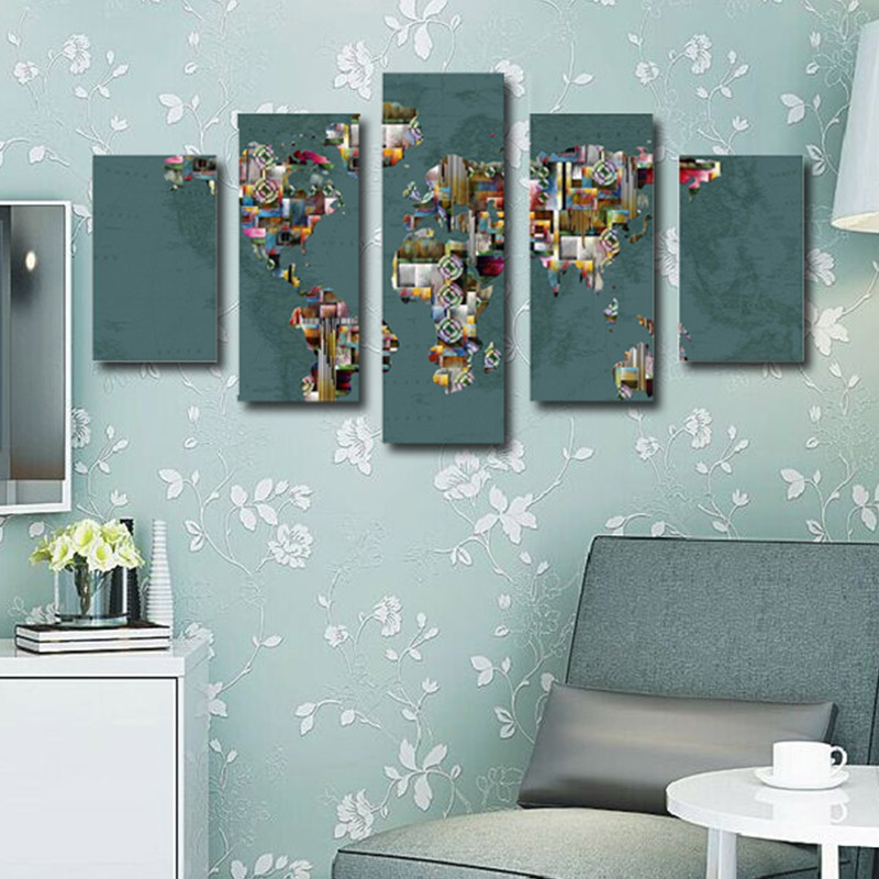 Canvas art printing interior decorative abstract modern canvas wall painting