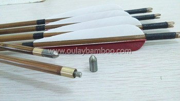 Splicing bamboo arrows penetrate 20~30cm with screw-thread points
