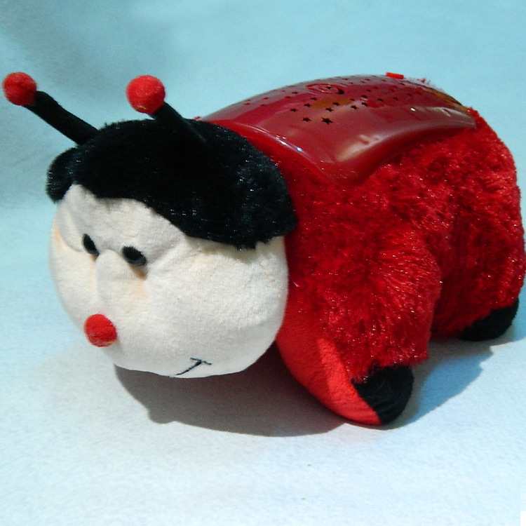 Ladybug night light pillow night light soft toy projection night light toy