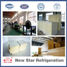 Polyurethane sandwich cool room/cold room insulation panels