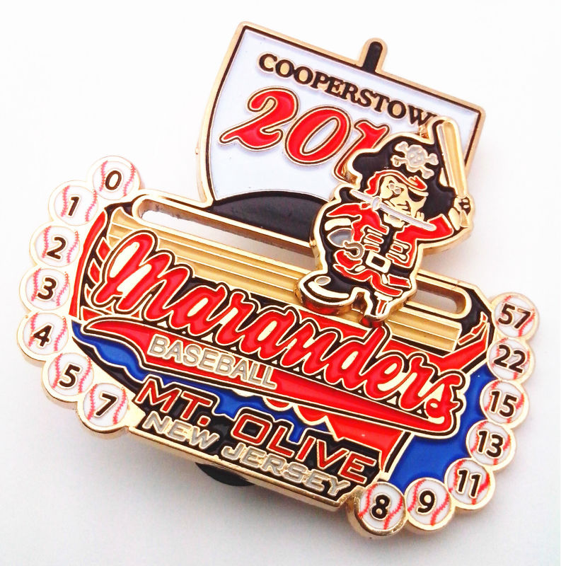 Baseball Color Enamel Lapel Pins