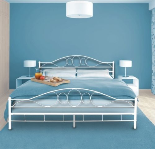 European style wrought iron divan bed design metal frame for Cheap double divan bed frames