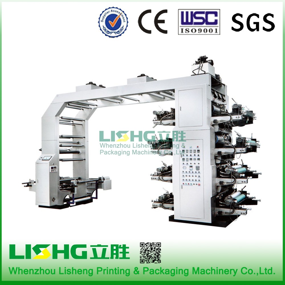 8 colour flexo printing machine double side printing