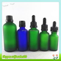 Free samples!!! 15ml 20ml 30ml Frost green Beautiful and natural Glass Perfume Bottles/Jars with childproof dropper for essence