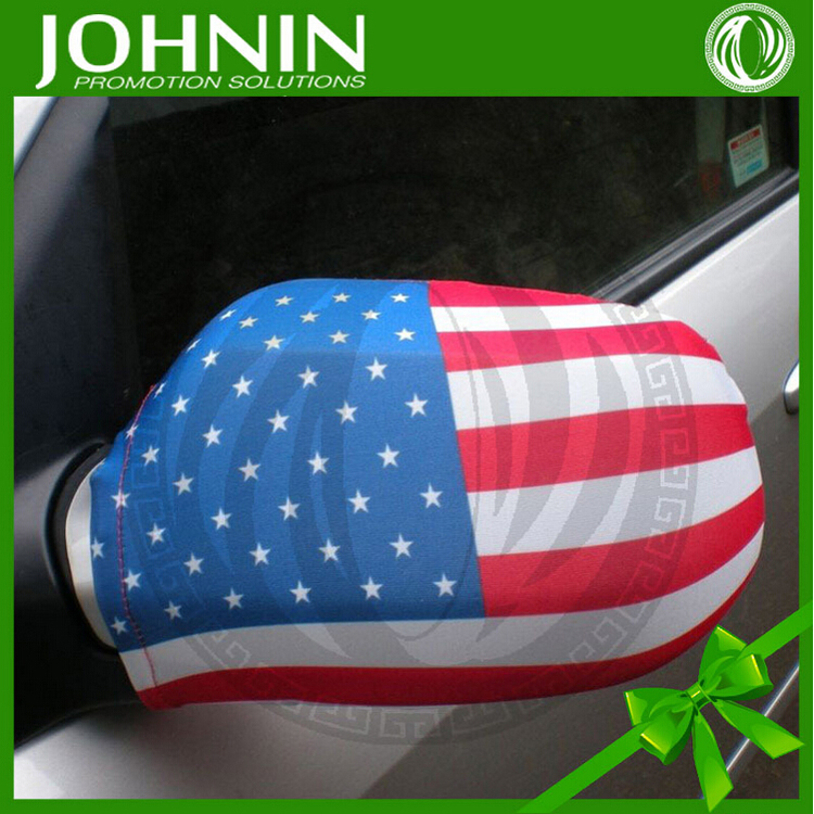 National flag printing USA racing car promotion mini cooper mirror cover