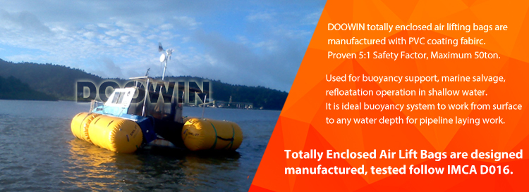Offshore Buoyancy Air Lifting Bags Boat Lift Air Bags