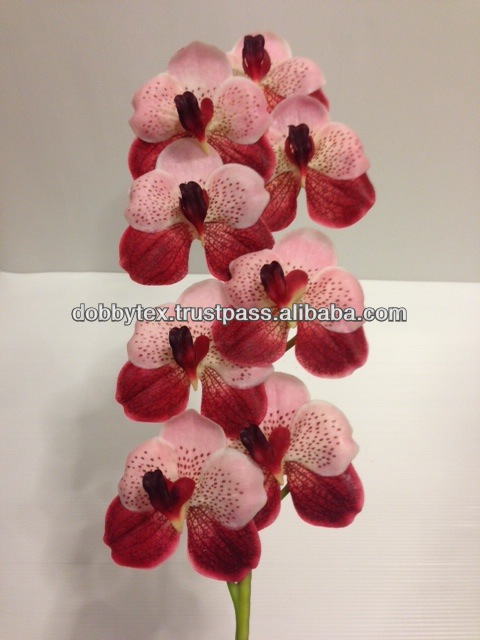 Thailand colorful artificial orchid for decoration