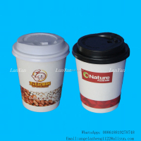 8oz New Style Custome Printed Single Wall Paper Coffee Cups with PS Lids