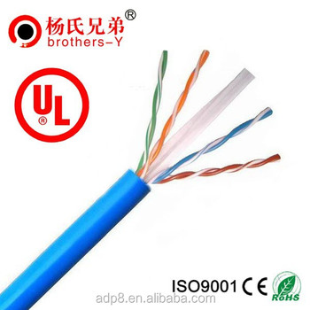 305m/roll UL ROHS Pass Test 4 Pairs Copper Conductor UTP FTP SFTP Cat6 Network Cable Lan Cable