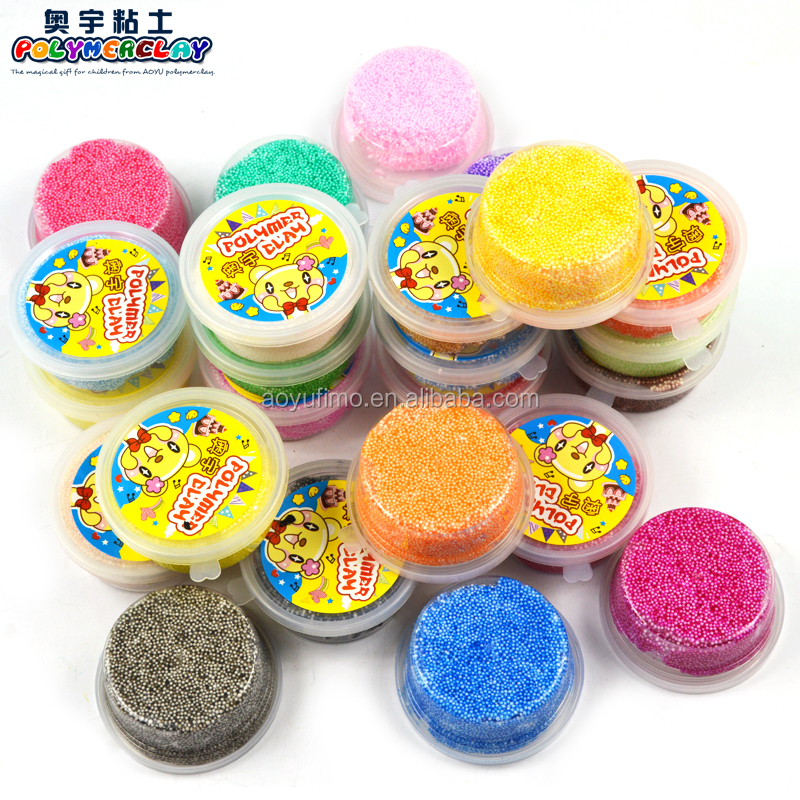 DIY arts and crafts educational toy for kids play dough Fimo foam clay 20g each color