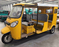 Two Rows 6-9 Passengers Three Wheel Motorcycle With Cabin / Moto Taxi / Sight Seeing Trike Car