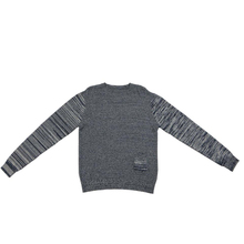 Men Pullover Casual Heavy Needle AB Yarn Space Dye OEM Knitting Sweater