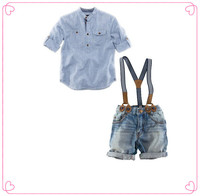2016 hot sale 2 pcs summer boy clothing sets with T-shirt and short pants