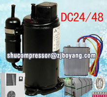 New products of solar air container rotary compressors for loco rescue military machinery air con