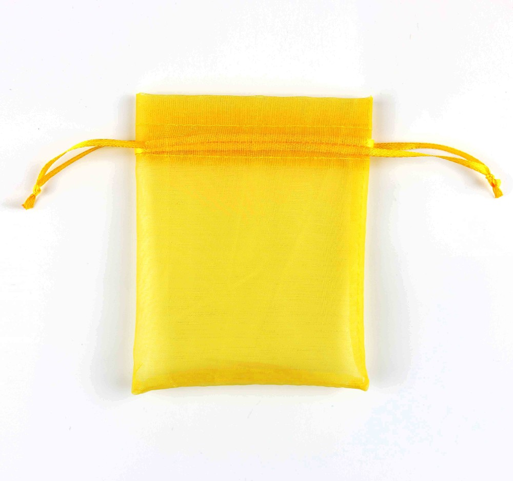 High Quality colorful organza bag for jewelry, organza drawstring gift bag, organza pouch