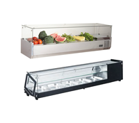 Commercial Supermarket Hotel Use Stainless Steel Food Display Showcase Salad Bar Refrigerator
