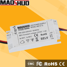 2015 Hot Sale PSU 15W 12V 1.25A Led Driver MS-15-12 Switching Power Supply With CE