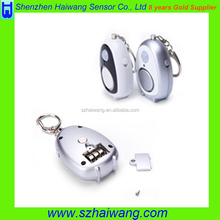 Mini keychain personal alarm large sound led light PIR sensor alarm for child and women