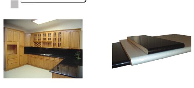 post-formed HPL faced flexible countertop