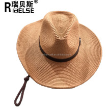 Cheap Summer Wide Brim Men Straw Hats Panana Straw Cowboy Hat for Promotion