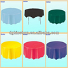"Wal-mart party 84"" round disposable plastic table cover"