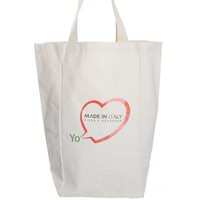 100% eco friendly organic cotton canvas shopping tote bag