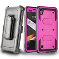 Tough Hybrid Hard Armor Protective Phone Cover Case For LG Tribute HD/X Style