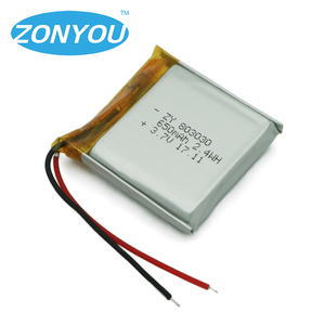 3.7v 650mah battery 803030 lithium polymer battery with MSDS certificate