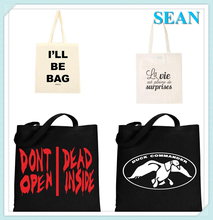 Latest Fashion Customized Cotton Burlap Beach Tote Bag For Promotion