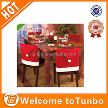 Wholesale promotional kitchen table decoration non woven cheap christmas santa chair