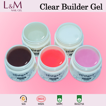 L&M professional soak off pink uv builder gel for Nail Extension