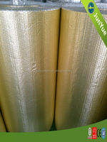 Gold reinforced aluminum foil building insulation material