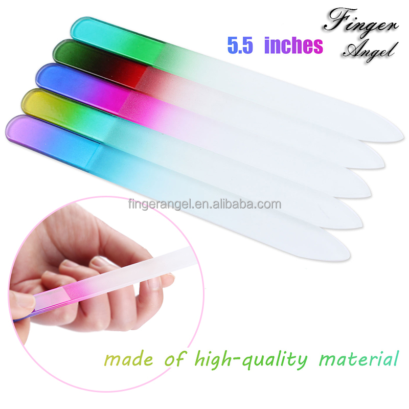 Long Lasting Durable Crystal Glass Double Work Side Maincure Nail Tools Nail File For Nail Art