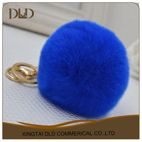 rabbit fur pom for Bag Charm,Women's Hats and Keyring