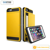 Card storage mobile phone cover for iPhone 5 slim armor case