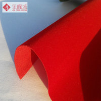 China Supplier 100% polyester fabric flock material/ non-woven fabric For Jewelry Box Interlining