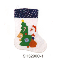 long stocking with animal/snowman/santa claus printing for Xmas gifts