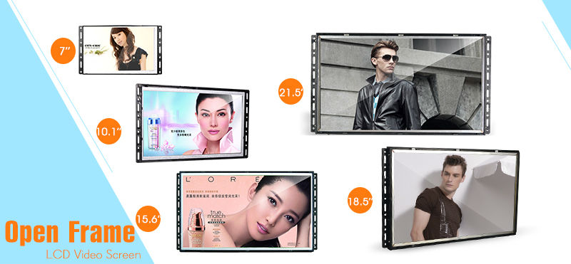 Open frame bicycle lcd advertising player