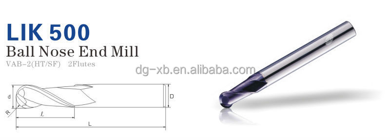 Solid Carbide Tapered End Mill;2-flute Ball Nose End Mills With ...