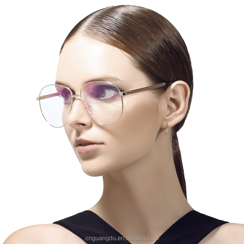 Retro Metal big glasses Frames women men eyeglasses vintage designer brand gafas High quailty myopia eyewear frames