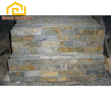 Outdoor stacked yellow rusty wall cladding slate