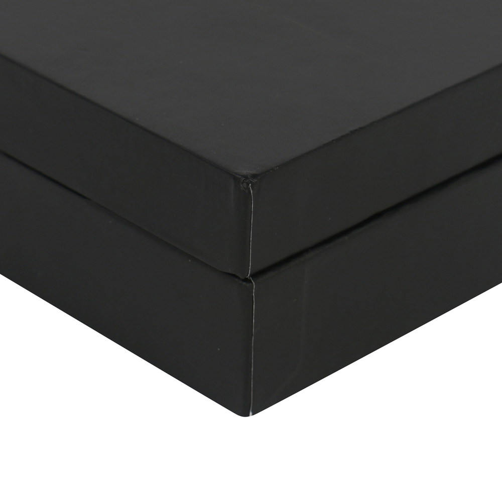black paper custom foil stamped cheap cufflink box