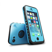 Waterproof case For Iphone 5C Shockproof Dirt Snow Proof Durable Case Cover Light Blue