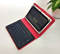 Universal Detachable Wireless Bluetooth Keyboard Cover Ultra Thin Leather Folio Cover with Stand for iPad Air