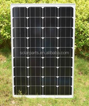 Cheap 100w tempered glass monocrystalline solar panel pv panel with aluminum frame