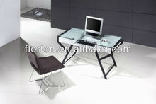 Florton stainless steel glass office table