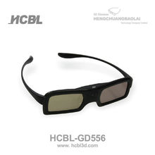 red color active shutter 3d glasses for 3d TV/DLP projector